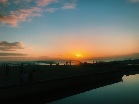 The best spot to watch the sunset in Seminyak.